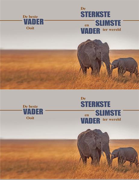 Vaderdagkaart slimme olifant