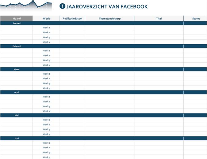 Editorialkalender sociale media