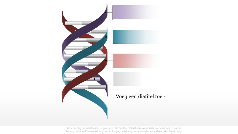 DNA-graphic als driedubbele helix