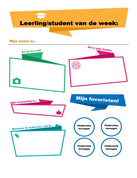Poster van de leerling/student van de week