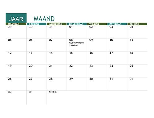 Onderwijskalender