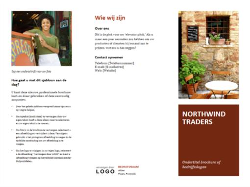 Zakelijke in drie delen gevouwen brochure