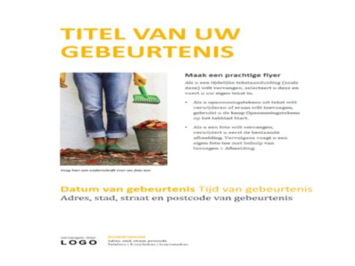 Folder voor kleine bedrijven (goudkleurig ontwerp)
