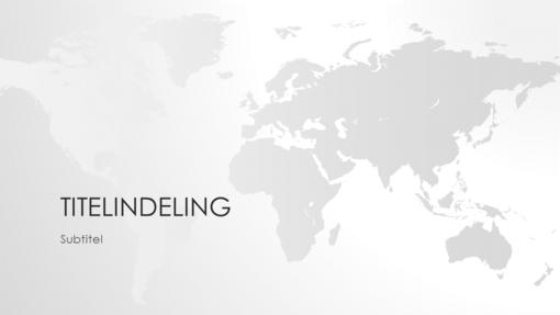 Reeks wereldkaarten, presentatie wereld (breedbeeld)