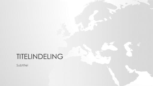 Reeks wereldkaarten, presentatie Europa (breedbeeld)
