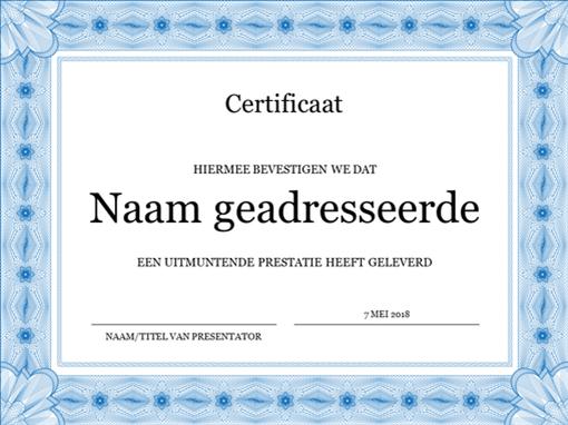Certificaat (blauw)