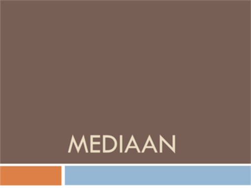 Mediaan