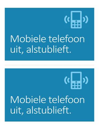 Herinneringsposter voor mobiele telefoon uit (blauw)
