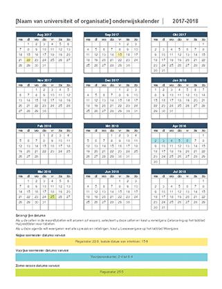 Onderwijskalender 2017-2018