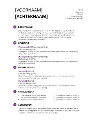 Studenten-cv (modern ontwerp)