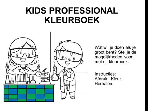 Kleurboek voor de jonge professionals