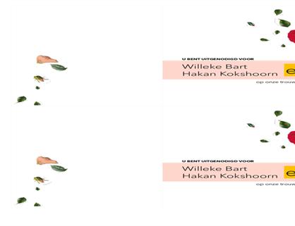 Huwelijksuitnodiging met bloemen (genderneutraal)