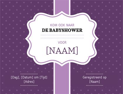 Uitnodiging voor babyshower