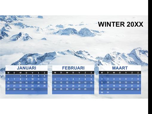 Driemaandelijkse seizoenskalender