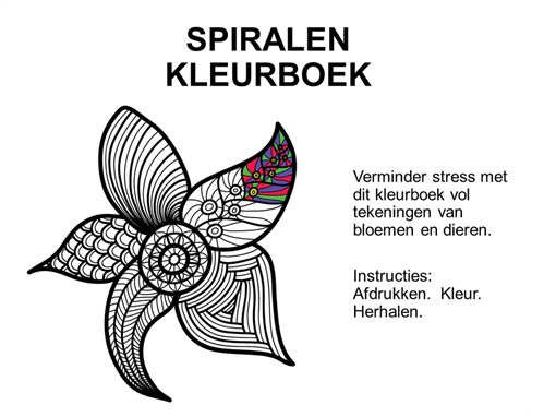 Spiralenkleurboek