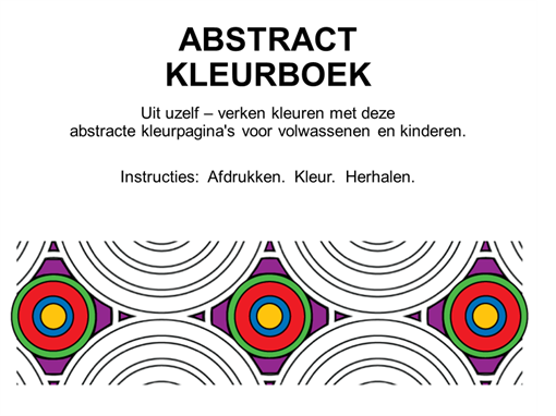 Abstract kleurboek
