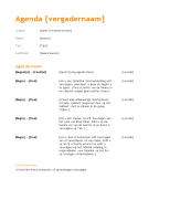 Agenda van zakelijke vergadering (oranje ontwerp)