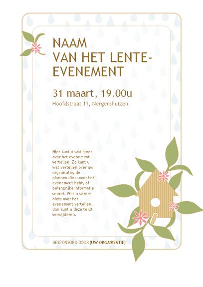 Folder voor een lente-evenement