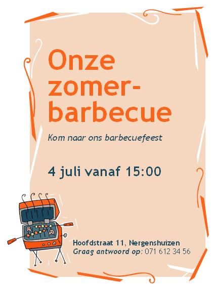 Uitnodiging voor barbecue