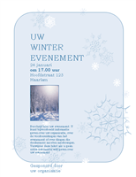 Aankondiging winterevenement