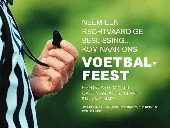 Uitnodiging voetbalfeest