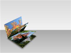 Foto's in een 3D-bladerboek