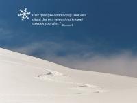 Sneeuwscène met animatie