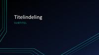 Presentatie met driedubbele circuitlijnen (breedbeeld)
