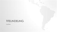 Wereldkaartserie, presentatie van Zuid-Amerikaanse continent (breedbeeld)