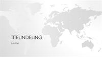 Wereldkaartserie, presentatie van de wereld (breedbeeld)
