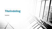 Zakelijke contrasterende presentatie (breedbeeld)