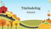 Leuke presentatie met herfst-thema (breedbeeld)