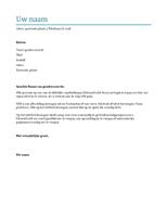 Begeleidende brief (blauw)