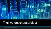 Presentatie voor wetenschappelijk project (breedbeeld)