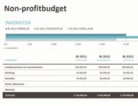 Non-profitbudget met fondsenwerving