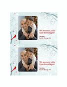 Kerstfotokaart (sneeuwvlokontwerp)