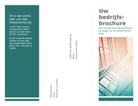 Brochure met drie vouwranden (blauw)