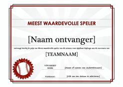 Meest waardevolle speler-certificaat