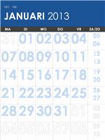 Meerkleurige kalender 2013-2014 (ma-zo)