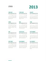 Overzichtelijke jaarkalender 2013 (indeling ma-zo)