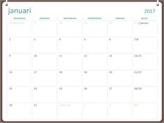 Kalender 2017 (ma-zo, twee ringen)
