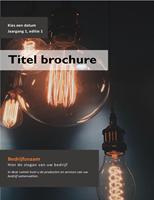 Boekje voor producten en services (A4-formaat, gevouwen, 8 pagina's)