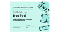 Diplomacertificaat voor kleuterschool
