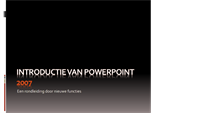 Kennismaking met Microsoft® Office PowerPoint® 2007