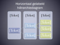 Horizontaal gelabeld hiërarchiediagram
