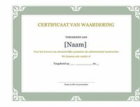 Certificaat van erkenning voor een administratief medewerker