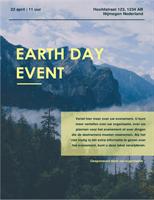 Folder voor Dag van de Aarde-evenement