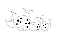 Kleurplaat (ontwerp met lieveheersbeestje)