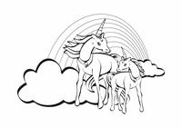 Kleurplaat (ontwerp met eenhoorn)