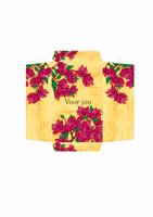 Envelop voor geld (roze ontwerp met bloemen)